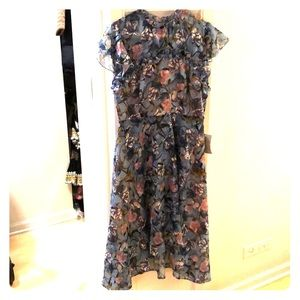NWT Blue floral high-low dress